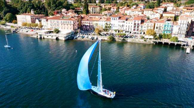 belgirate vista lago barca