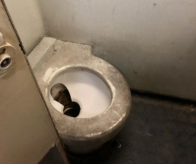 cesso treno bagno