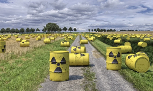 scorie bidoni nucleare prato