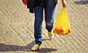 spesa gambe sacchetto