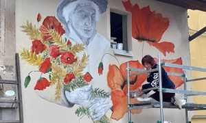 mezzomerico muro dipinto