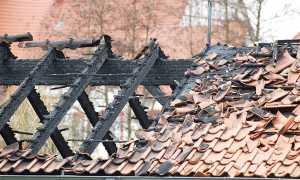 tetto bruciato incendio