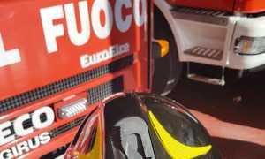 vigili fuoco casco scritta